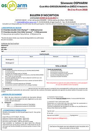 Bulletin de réservation à renvoyer à :             Coopérati